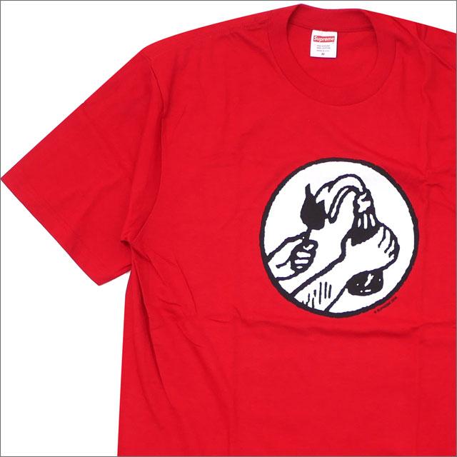 【合計15,000円(税抜)以上のお買い上げでステッカープレゼント!】 SUPREME(シュプリーム) Molotov Tee (Tシャツ) RED 200-007749-145+【新品】