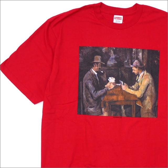 【合計15,000円(税抜)以上のお買い上げでステッカープレゼント!】 SUPREME(シュプリーム) Cards Tee (Tシャツ) RED 200-007755-155+【新品】