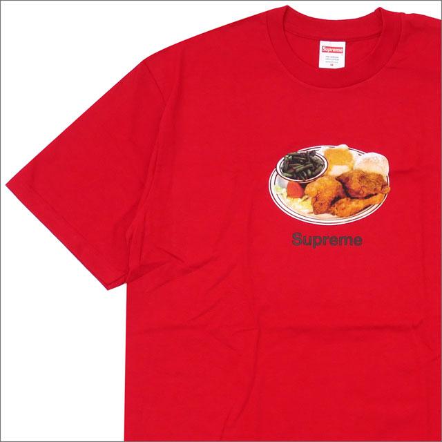 【合計15,000円(税抜)以上のお買い上げでステッカープレゼント!】 SUPREME(シュプリーム) Chicken Dinner Tee (Tシャツ) RED 200-007762-143+【新品】