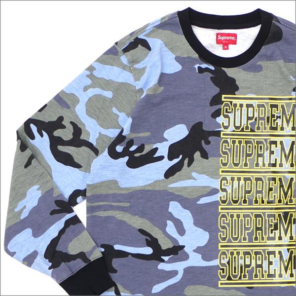 シュプリーム SUPREME Stacked L S Top 長袖Tシャツ BLUE CAMO 203000277144 【新品】102001692064