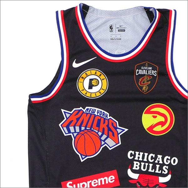 【合計15,000円(税抜)以上のお買い上げでステッカープレゼント!】 NIKE(ナイキ) x SUPREME(シュプリーム) NBA Teams Authentic Jersey (タンクトップ) BLACK 205-000150-131+【新品】