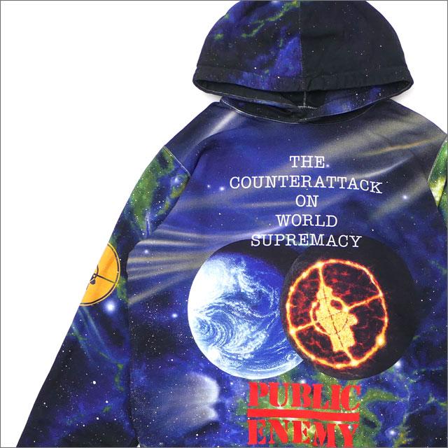 【合計15,000円(税抜)以上のお買い上げでステッカープレゼント!】 SUPREME(シュプリーム) x UNDERCOVER(アンダーカバー) x Public Enemy Hooded Sweatshirt (スウェットパーカー) MULTI 211-000558-049 130-002972-049+【新品】