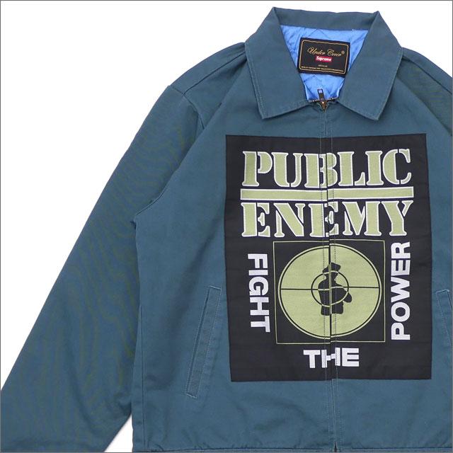 【合計15,000円(税抜)以上のお買い上げでステッカープレゼント!】 SUPREME(シュプリーム) x UNDERCOVER(アンダーカバー) x Public Enemy Work Jacket (ワークジャケット) DUSTY TEAL 228-000155-045 418-000199-034+【新品】
