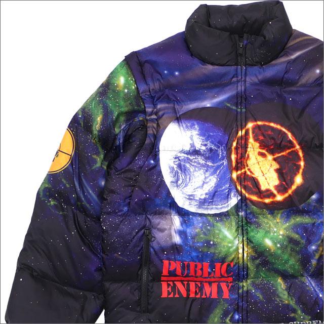 【合計15,000円(税抜)以上のお買い上げでステッカープレゼント!】 SUPREME(シュプリーム) x UNDERCOVER(アンダーカバー) x Public Enemy Puffy Jacket (ダウンジャケット)(ダウンベスト) MULTI 226-000198-049 418-000200-059+【新品】