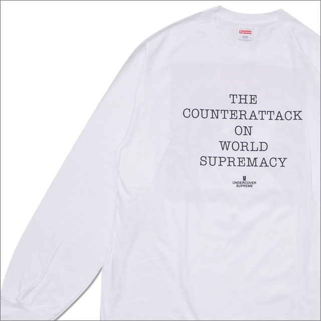 ed9961771ad8 SUPREME (シュプリーム) x UNDERCOVER (under cover) x Public Enemy Counter Attack LS  Tee (long sleeves T-shirt) WHITE 202-000945-050+