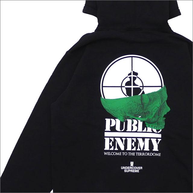 【合計15,000円(税抜)以上のお買い上げでステッカープレゼント!】 SUPREME(シュプリーム) x UNDERCOVER(アンダーカバー) x Public Enemy Terrordome Hooded Sweatshirt (スウェットパーカー) BLACK 211-000560-051+【新品】
