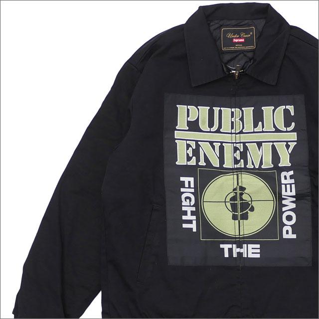 【合計15,000円(税抜)以上のお買い上げでステッカープレゼント!】 SUPREME(シュプリーム) x UNDERCOVER(アンダーカバー) x Public Enemy Work Jacket (ジャケット) BLACK 228-000155-041 418-000199-061+【新品】