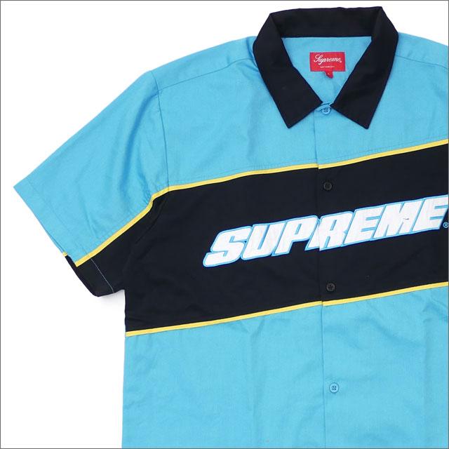シュプリーム SUPREME Color Blocked Work Shirt 半袖シャツ BRIGHT BLUE 418000150054 418000349054 【新品】