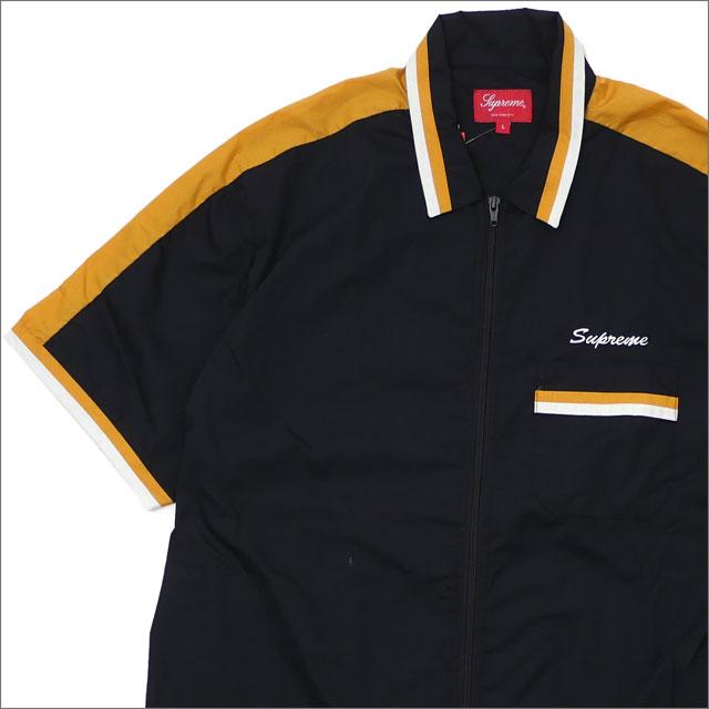 【合計15,000円(税抜)以上のお買い上げでステッカープレゼント!】 SUPREME(シュプリーム) Zip Up Work Shirt (半袖シャツ) BLACK 418-000147-051 418-000196-061+【新品】