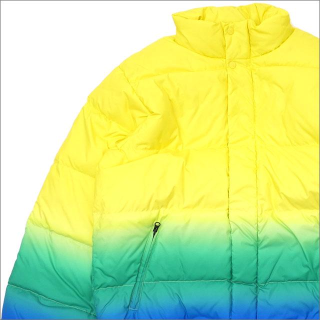 【合計15,000円(税抜)以上のお買い上げでステッカープレゼント!】 SUPREME(シュプリーム) Gradient Puffy Jacket (ダウンジャケット) YELLOW 418-000145-048+【新品】