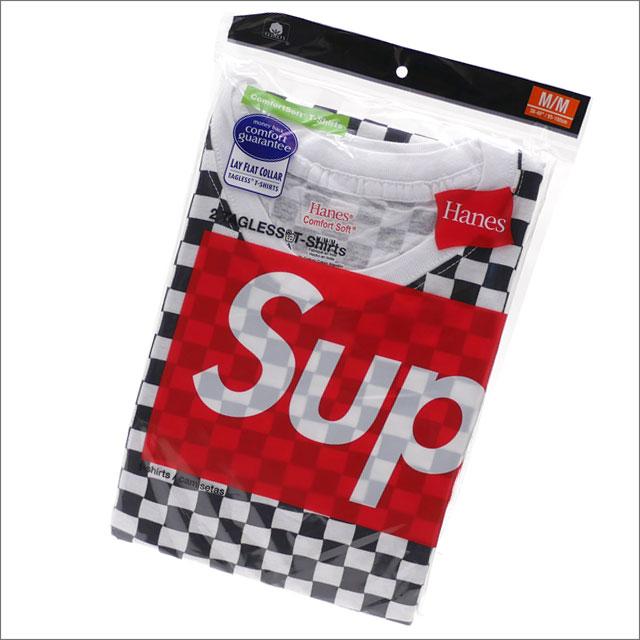 【合計15,000円(税抜)以上のお買い上げでステッカープレゼント!】 SUPREME(シュプリーム) x Hanes(ヘインズ) Checker Tagless Tees(2 Pack) (Tシャツ2枚セット) CHECKER 200-007787-049x【新品】