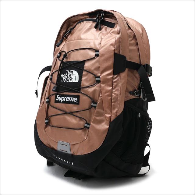 【合計15,000円(税抜)以上のお買い上げでステッカープレゼント!】 SUPREME(シュプリーム) x THE NORTH FACE(ザ・ノースフェイス) Metallic Borealis Backpack (バックパック) ROSE GOLD 276-000285-013+【新品】
