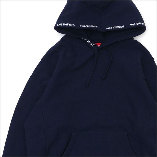 【合計15,000円(税抜)以上のお買い上げでステッカープレゼント!】 SUPREME(シュプリーム) Channel Hooded Sweatshirt (スウェットパーカー) NAVY 209-000516-137+【新品】