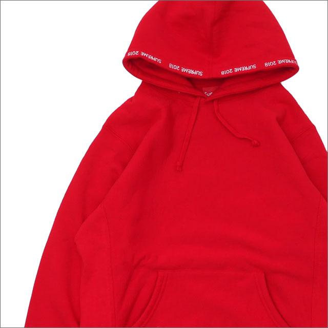 【合計15,000円(税抜)以上のお買い上げでステッカープレゼント!】 SUPREME(シュプリーム) Channel Hooded Sweatshirt (スウェットパーカー) RED 209-000516-143+【新品】