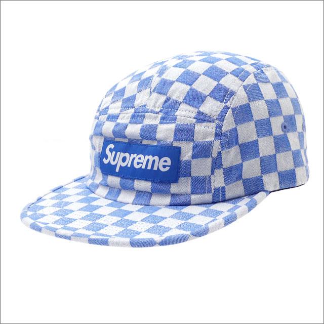 【合計15,000円(税抜)以上のお買い上げでステッカープレゼント!】 SUPREME(シュプリーム) Checkerboard Camp Cap (キャンプキャップ) BLUE 418-000204-014+【新品】