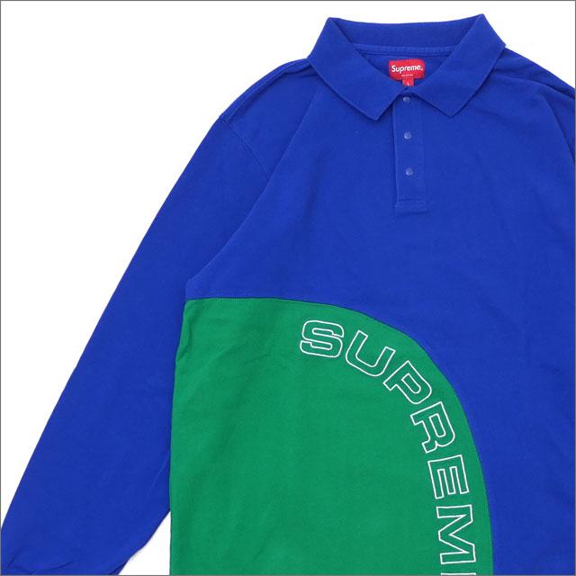【合計15,000円(税抜)以上のお買い上げでステッカープレゼント!】 SUPREME(シュプリーム) Corner Arc L/S Polo (長袖ポロシャツ) ROYAL 418-000210-054+【新品】