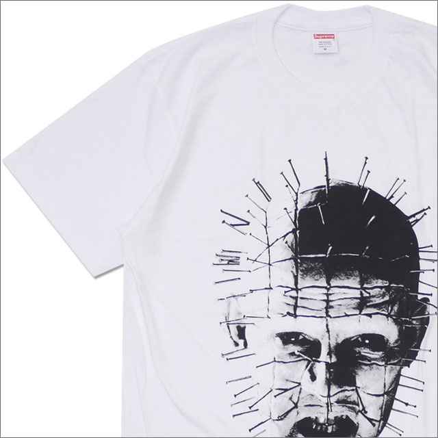 【合計15,000円(税抜)以上のお買い上げでステッカープレゼント!】 SUPREME(シュプリーム) Hellraiser Tee (Tシャツ) WHITE 200-007820-040+【新品】
