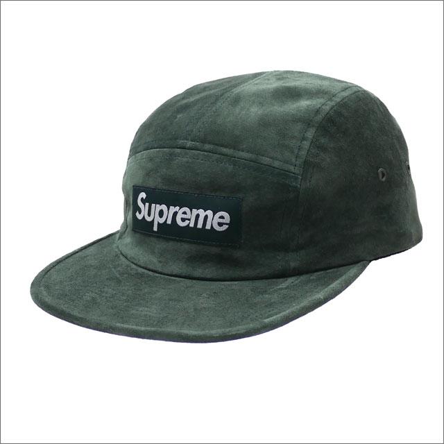 【合計15,000円(税抜)以上のお買い上げでステッカープレゼント!】 SUPREME(シュプリーム) Suede Camp Cap (キャンプキャップ) DARK GREEN 265-001032-115+【新品】