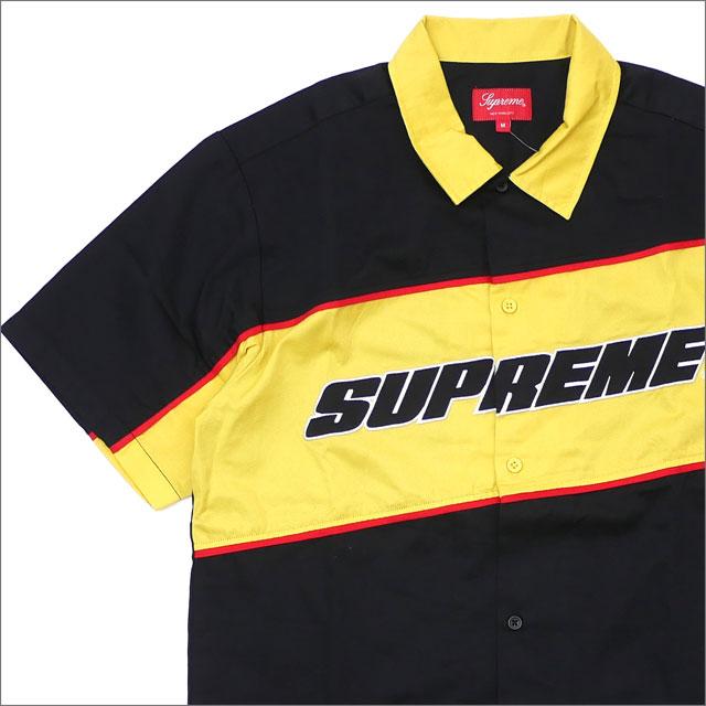 【合計15,000円(税抜)以上のお買い上げでステッカープレゼント!】 SUPREME(シュプリーム) Color Blocked Work Shirt (半袖シャツ) BLACK 418-000197-041+【新品】