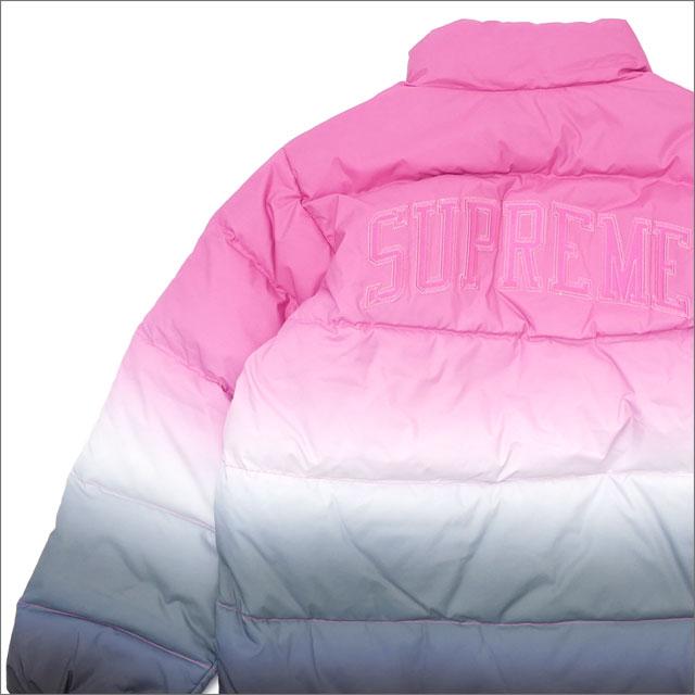 【合計15,000円(税抜)以上のお買い上げでステッカープレゼント!】 SUPREME(シュプリーム) Gradient Puffy Jacket (ダウンジャケット) PINK 418-000192-043+【新品】