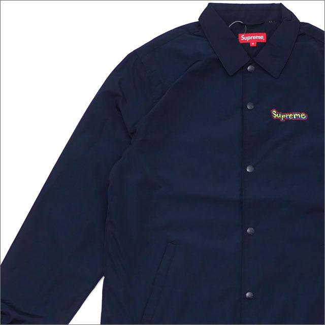 【合計15,000円(税抜)以上のお買い上げでステッカープレゼント!】 SUPREME(シュプリーム) Gonz Logo Coaches Jacket (コーチジャケット) NAVY 225-000366-047 418-000313-067+【新品】