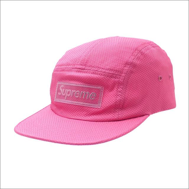 【合計15,000円(税抜)以上のお買い上げでステッカープレゼント!】 SUPREME(シュプリーム) Nylon Pique Camp Cap (キャンプキャップ) PINK 265-001035-113+【新品】