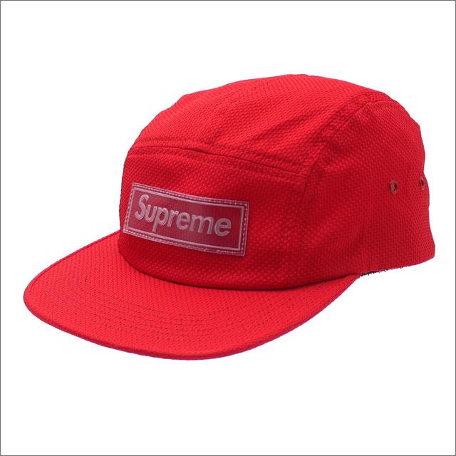【合計15,000円(税抜)以上のお買い上げでステッカープレゼント!】 SUPREME(シュプリーム) Nylon Pique Camp Cap (キャンプキャップ) RED 265-001035-119+【新品】