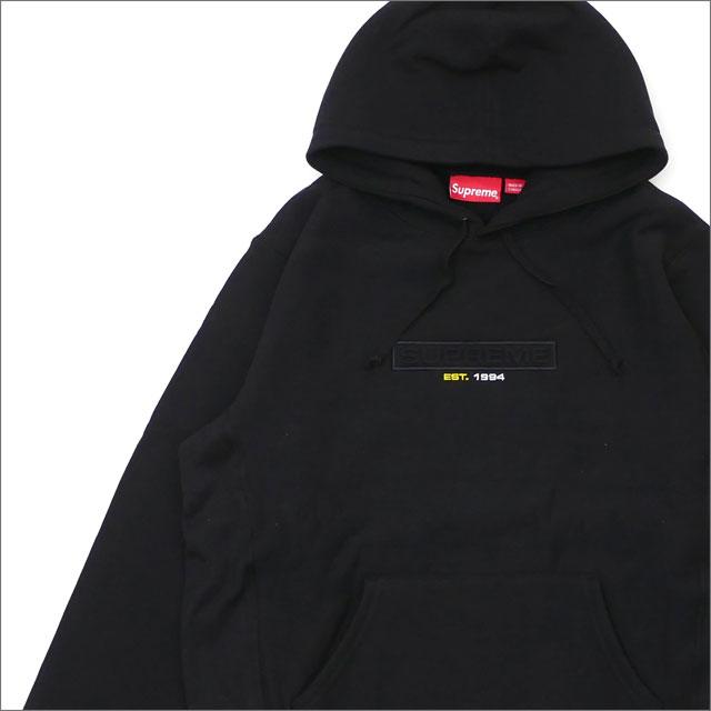 【合計15,000円(税抜)以上のお買い上げでステッカープレゼント!】 SUPREME(シュプリーム) Embossed Logo Hooded Sweatshirt (スウェットパーカー) BLACK 211-000575-141+【新品】