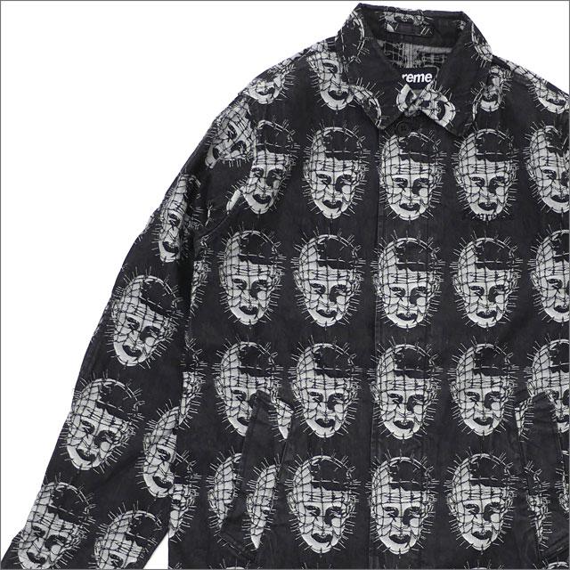【合計15,000円(税抜)以上のお買い上げでステッカープレゼント!】 SUPREME(シュプリーム) Jacquard Denim Trench Coat (トレンチコート) BLACK 228-000156-131+【新品】