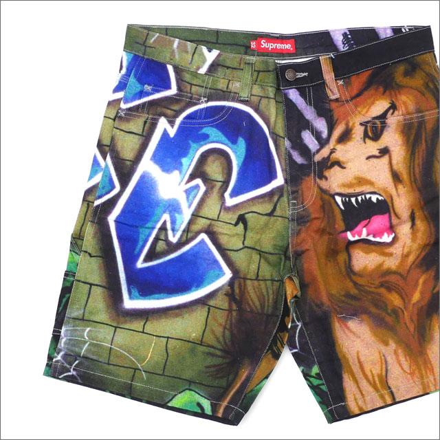 【合計15,000円(税抜)以上のお買い上げでステッカープレゼント!】 SUPREME(シュプリーム) Lion's Den Painter Short (ペインターショーツ) MULTI 244-000753-139+【新品】