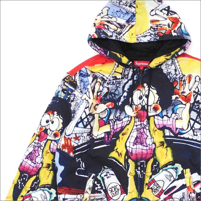 【合計15,000円(税抜)以上のお買い上げでステッカープレゼント!】 SUPREME(シュプリーム) The Yard Hooded Work Jacket (ワークジャケット) MULTI 228-000157-139+【新品】