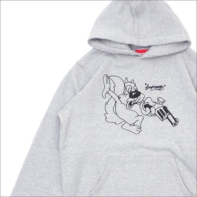 【合計15,000円(税抜)以上のお買い上げでステッカープレゼント!】 SUPREME(シュプリーム) Lee Hooded Sweatshirt (スウェットパーカー) GRAY 211-000579-132 418-000317-042+【新品】