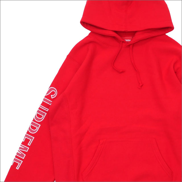 SUPREME(シュプリーム) Sleeve Embroidery Hooded Sweatshirt (スウェットパーカー) RED 211-000578-133+【新品】
