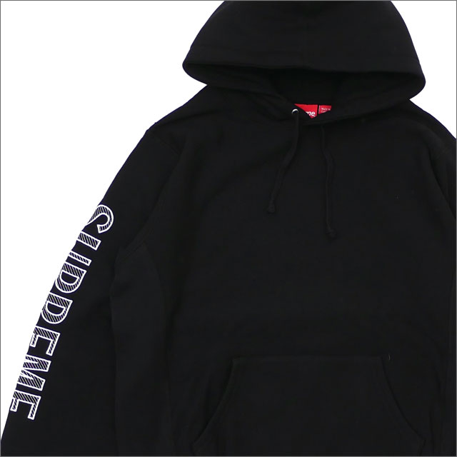 SUPREME(シュプリーム) Sleeve Embroidery Hooded Sweatshirt (スウェットパーカー) BLACK 211-000578-141+【新品】