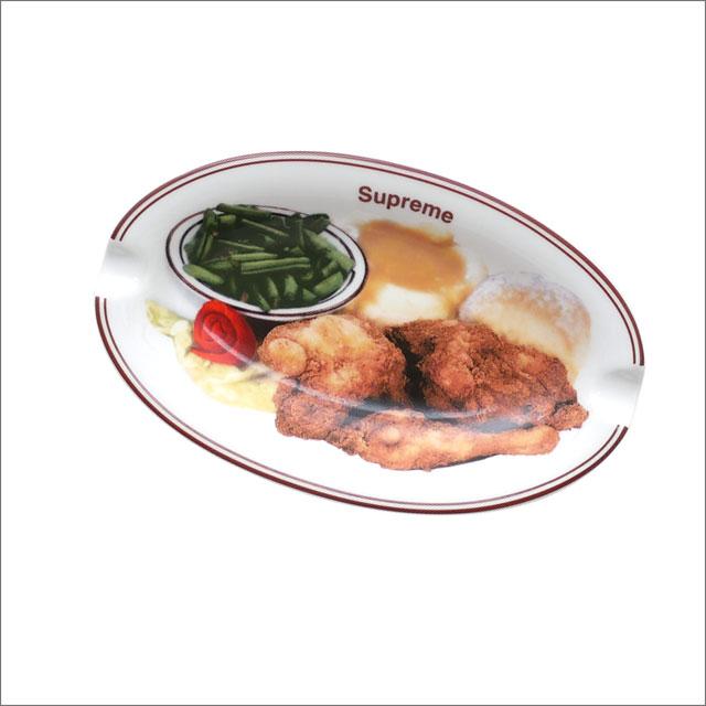 【合計15,000円(税抜)以上のお買い上げでステッカープレゼント!】 SUPREME(シュプリーム) Chicken Dinner Plate Ashtray (アッシュトレイ)(灰皿) WHITE 290-004720-010+【新品】