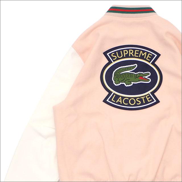 【合計15,000円(税抜)以上のお買い上げでステッカープレゼント!】 SUPREME(シュプリーム) Wool Varsity Jacket (ジャケット) PEACH 418-000332-043+【新品】