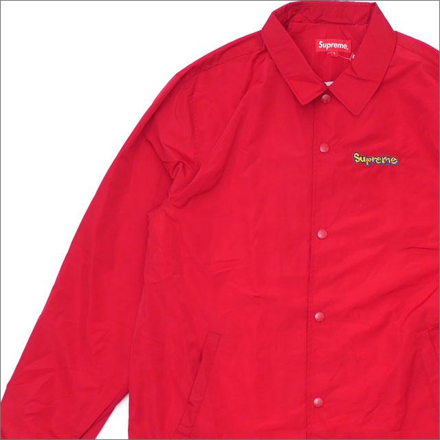 【合計15,000円(税抜)以上のお買い上げでステッカープレゼント!】 SUPREME(シュプリーム) Gonz Logo Coaches Jacket (コーチジャケット) RED 418-000313-043+【新品】