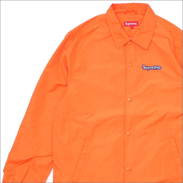 【合計15,000円(税抜)以上のお買い上げでステッカープレゼント!】 SUPREME(シュプリーム) Gonz Logo Coaches Jacket (コーチジャケット) ORANGE 418-000313-038+【新品】