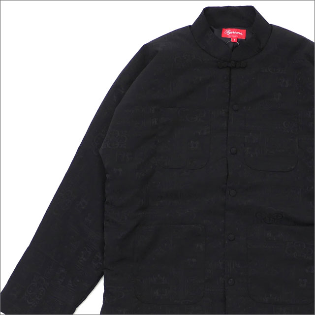 【合計15,000円(税抜)以上のお買い上げでステッカープレゼント!】 SUPREME(シュプリーム) Mandarin Jacket (ジャケット) BLACK 230-001094-031+【新品】