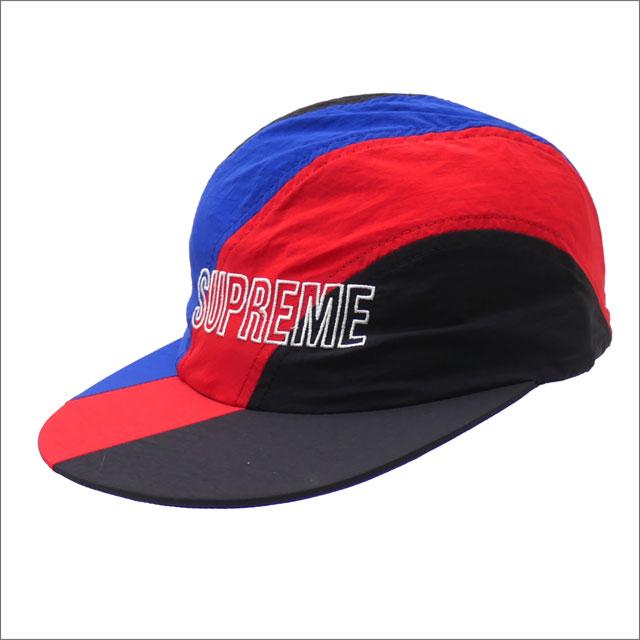 【合計15,000円(税抜)以上のお買い上げでステッカープレゼント!】 SUPREME(シュプリーム) Diagonal Stripe Nylon Hat (キャップ) RED 265-001054-113+【新品】
