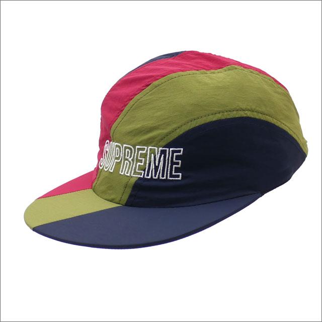 【合計15,000円(税抜)以上のお買い上げでステッカープレゼント!】 SUPREME(シュプリーム) Diagonal Stripe Nylon Hat (キャップ) NAVY 265-001054-117+【新品】