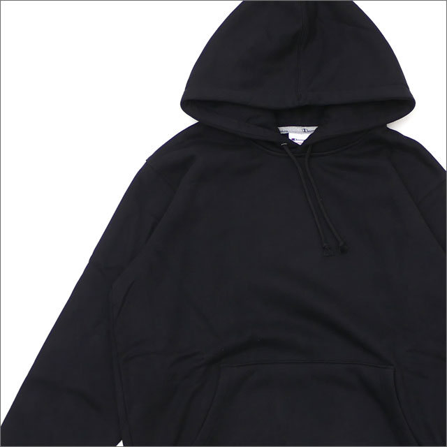 【合計15,000円(税抜)以上のお買い上げでステッカープレゼント!】 SUPREME(シュプリーム) Champion Hooded Sweatshirt (スウェットパーカー) BLACK 211-000581-141+【新品】