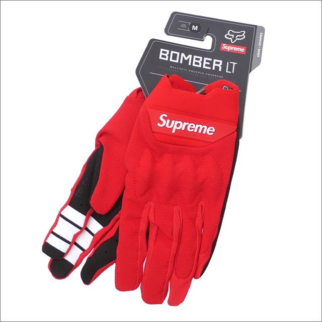 【合計15,000円(税抜)以上のお買い上げでステッカープレゼント!】 SUPREME(シュプリーム) x Fox Racing(フォックス・レーシング) Bomber LT Gloves (グローブ)(手袋) RED 418-000340-033+【新品】