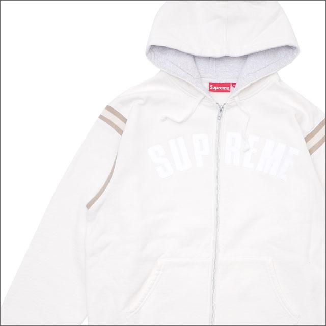 【合計15,000円(税抜)以上のお買い上げでステッカープレゼント!】 SUPREME(シュプリーム) Jet Sleeve Zip Up Hooded Sweatshirt (スウェットパーカー) WHITE 418-000338-050+【新品】