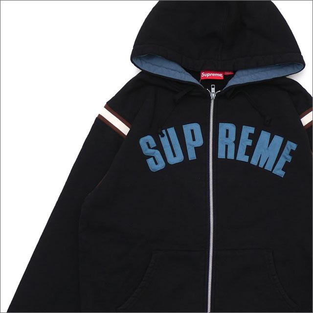 【合計15,000円(税抜)以上のお買い上げでステッカープレゼント!】 SUPREME(シュプリーム) Jet Sleeve Zip Up Hooded Sweatshirt (スウェットパーカー) BLACK 418-000338-041+【新品】