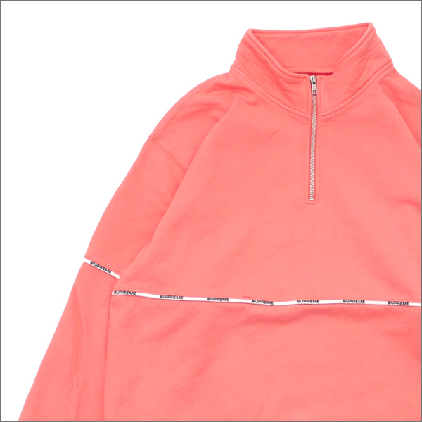 SUPREME(シュプリーム) Logo Piping Half Zip Sweatshirt (スウェット) CORAL 418-000343-049+【新品】