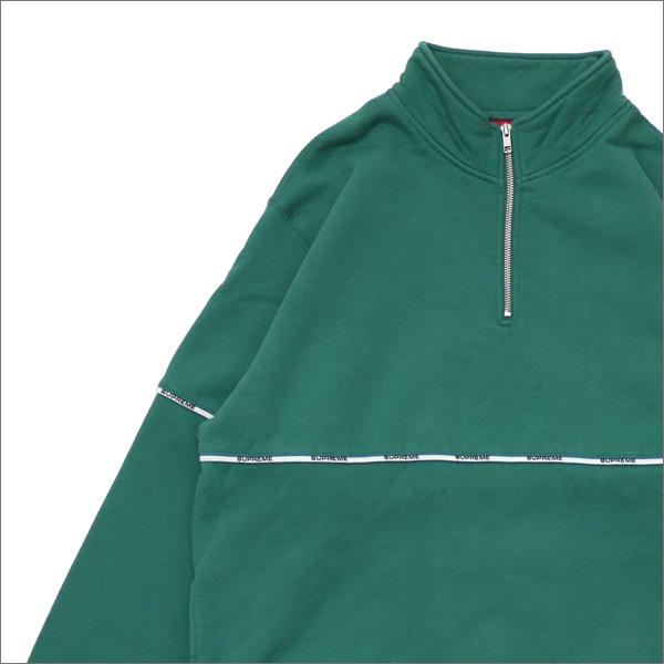 SUPREME(シュプリーム) Logo Piping Half Zip Sweatshirt (スウェット) LIGHT PINE 418-000343-058+【新品】