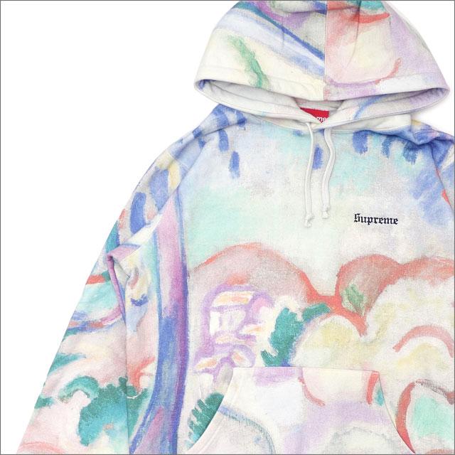 【合計15,000円(税抜)以上のお買い上げでステッカープレゼント!】 SUPREME(シュプリーム) Landscape Hooded Sweatshirt (スウェットパーカー) Multicolor 211-000582-039+【新品】