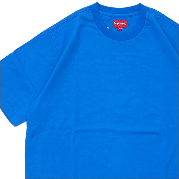 【合計15,000円(税抜)以上のお買い上げでステッカープレゼント!】 SUPREME(シュプリーム) Athletic Label S/S Top (Tシャツ) BLUE 418-000316-054+【新品】