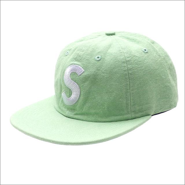 シュプリーム SUPREME Washed Chambray S Logo 6Panel キャップ GREEN 265001056115 【新品】
